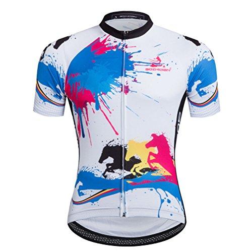 Uriah Men's Cycling Jersey Short Sleeve Running Horse Size L(CN)
