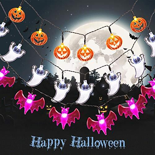 HalloweenGuirnaldaLuces3Piezas20LEDCadenadeLuces