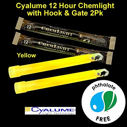 Amazon.com: Cyalume 12 Hr Chemlight Glowstick, 2 unidades ...