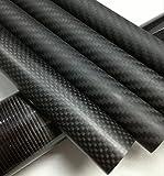 Abester OD 50mm x ID 47mm x 500mm Long Carbon Fiber Tube 3K Matt Roll Wrapped