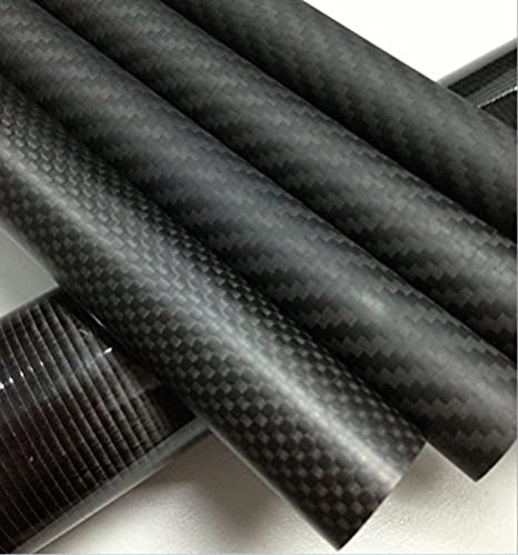 Roll Wrapped 3k Carbon Fiber Tube 1 m Matt 1 x OD 32mm x ID 30mm x 1000mm