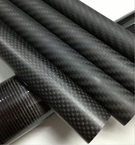 Abester OD 50mm x ID 47mm x 500mm Long Carbon Fiber Tube 3K Matt Roll Wrapped