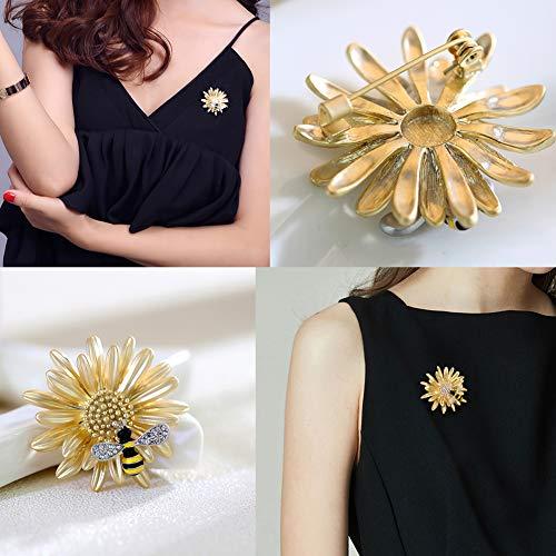 Shinywear Brooch Pin Vintage Sunflower Bee by Shinywear (Image #1)