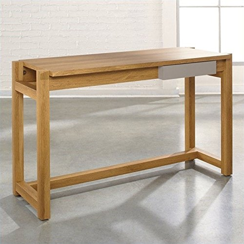 Sauder Soft Modern Desk in Pale Oak Finish