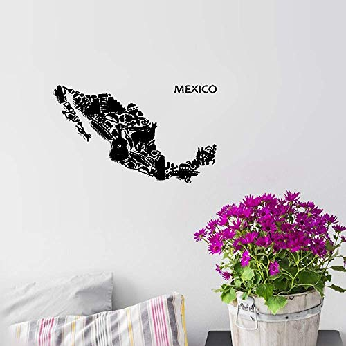 (Wall Decal Wall Written Vinyl Wall Decals Quotes Sayings Words Art Deco Lettering Map Mexico Mexican Latin AmericaFor for Living Room)