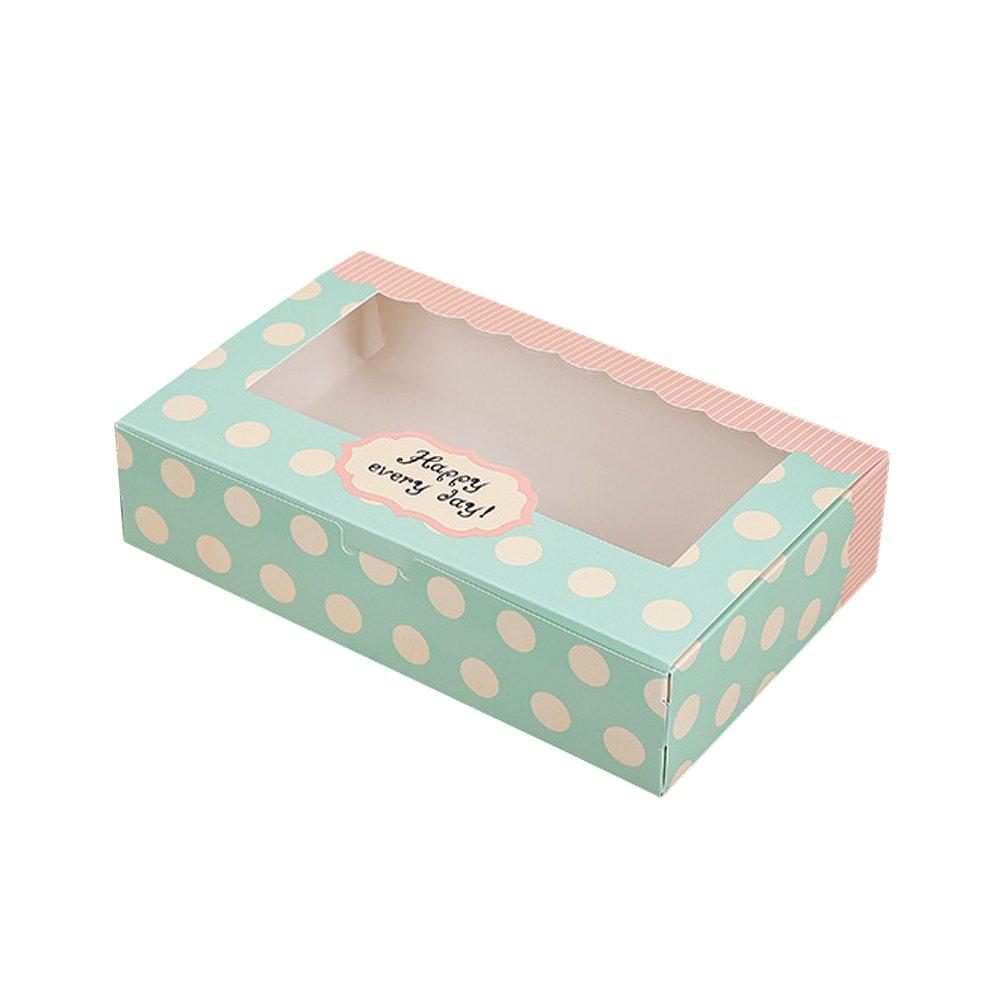 Zhi Jin caja de 12 Cavidades Moldes de papel para magdalenas Cupcake postre embalaje cajas de regalo panadería contenedor Set 5 Inch, 27*13.5*5cm: ...
