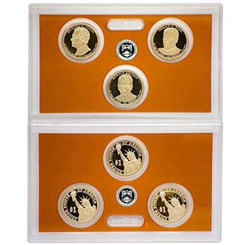 2016 S Presidential Dollar Proof Set 3 Coins US Mint No Box or COA Gem Deep Cameo