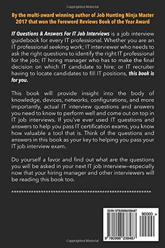 IT Questions & Answers For IT Job Interviews: Volume 1 ...