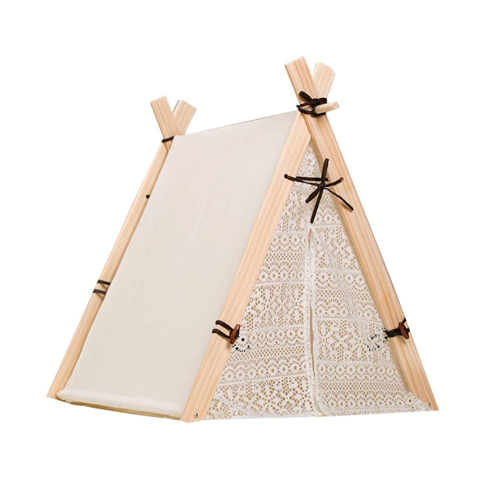 4(with mat) L 4(with mat) L Dog Tepee, Indoor Simple Shape Pet Teepee Cat Bed Dog Tents Pet House for Cat Dog Pet Nest (color   4(with mat), Size   L)