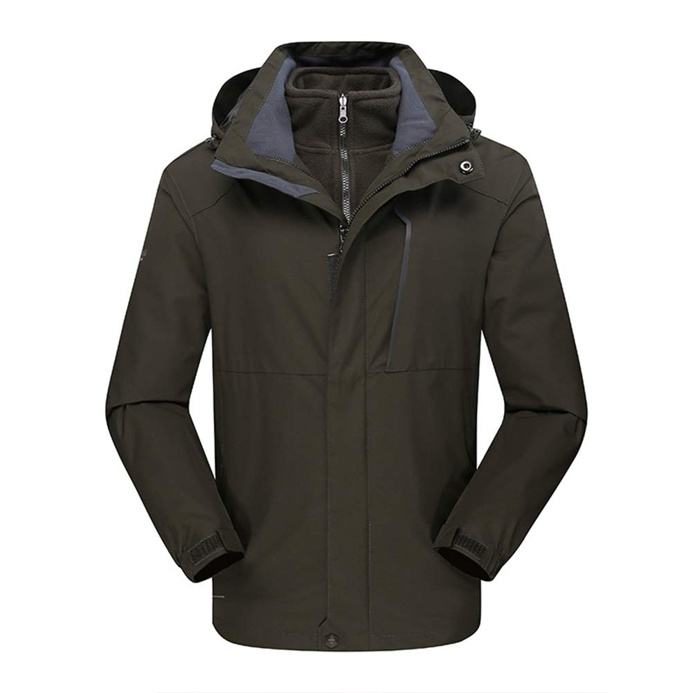 Ommda 3-in-1 Fleece Jacke Hardshelljacke Herren Wasserdicht Atmungsaktiv Outdoor Jacke mit Abnehmbare Fleece