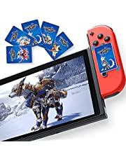 3 pcs Amiibo NFC Cards for Monster Hunter Rise Compatible Switch, 0.8''1.2'', Game Cards for Switch/Switch Lite with Storage Box.
