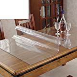 Pvc,soft glass table-cloth/mat/cushion/transparent,rectangular tea table mat/[waterproof], burn-proof, oil-proof , disposable,crystal plate table mat-A 60x130cm(24x51inch)