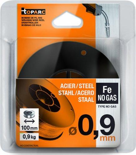 5 opinioni per GYS- Rullo di filo d'acciaio animato senza gas, diametro 100 mm, 0,9 kg