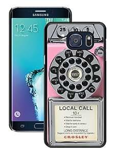 Samsung Galaxy S6 edge Plus Case,Personalized Classic Pay Phone Pink Black Samsung Galaxy S6 edge Plus Case Cover