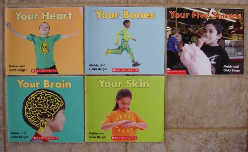 Human Body Set of 5 Early Science Readers: Your Skin ~ Your Brain ~ Your Heart ~ Your Bones ~ Your Five Senses (Time-to-Discover Scholastic (Skin And Bones Set)