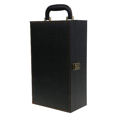 Xiuinserty - Caja de piel para botella de vino, bolsa de ...