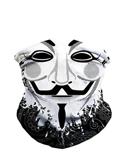 iHeartRaves Guy Fawkes Seamless Mask Rave Bandana