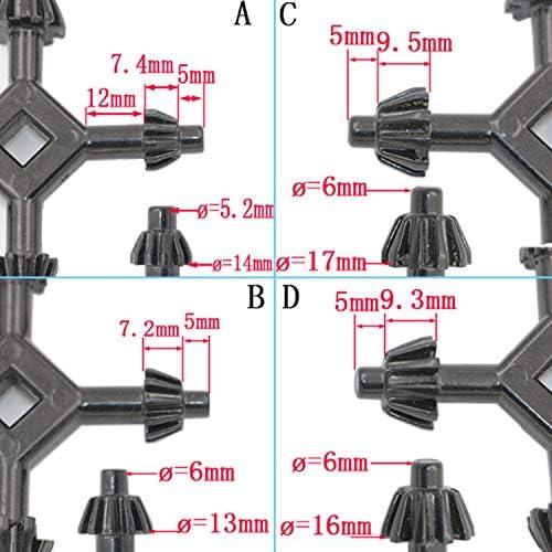 Multifunktionsschlüssel 4 in 1 Multifunktionsbohrfutter Schraubenschlüssel Pistolenbohrschlüssel,Einfach zu bedienen