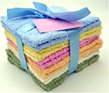 Wash Cloth Gift Pack - Set of 12 - Pastel Colors