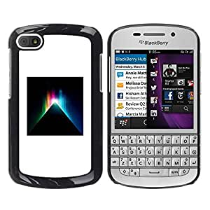 Paccase / SLIM PC / Aliminium Casa Carcasa Funda Case Cover para - Black Minimalist White Mystery Deep - BlackBerry Q10