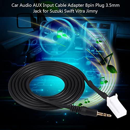 Ajaxstore - Auto Audio Aux Input Cable Line Adapter 8Pin Plug 3.5Mm Jack für Suzuki Swift Vitra Jimny Auto Accessories