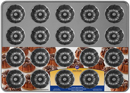 Wilton Perfect Results Premium Non-Stick Bakeware Mini Fluted Tube Pan, 20-Cavity