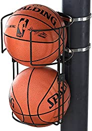 J JACKCUBE DESIGN Sturdy Metal Vertical Ball Storage Rack Standing Ball Holder Organizing Display Wall or Pole