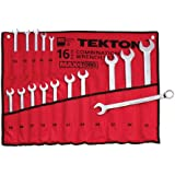 TEKTON 1938 MaxTorq Combination Wrench Set, Metric, 16-Piece