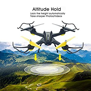 HASAKEE H3 FPV RC Drone with HD Live Video Wifi Camera and Headless Mode 2.4GHz 6-Axis Gyro Quadcopter with Altitude Hold,FPV Phone Control and Gravity Sensor RTF Function,BONUS BATTERY by HASAKEE