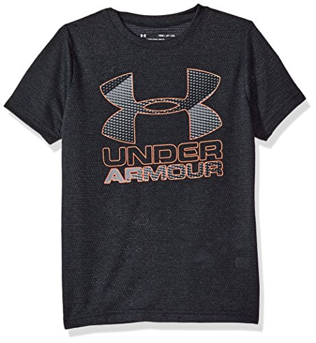 Under Armour Boys' Hybrid Big Logo T-Shirt, Anthracite/Steel, Youth Large
