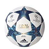 adidas AZ5200 Finale Cdf Official Match Ball 5, White/Mystery Blue/Cyan