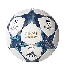 adidas AZ5200 Finale Cdf Official Match Ball 5, White/Mystery Blue/Cyan