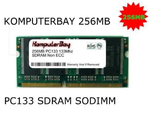 Pc133 Sodimm Compaq Notebook Ram (KOMPUTERBAY 256MB 133Mhz PC133 SDRAM SODIMM (144 Pin) Laptop RAM 16Mx16x16 (8 Chip Configuration))