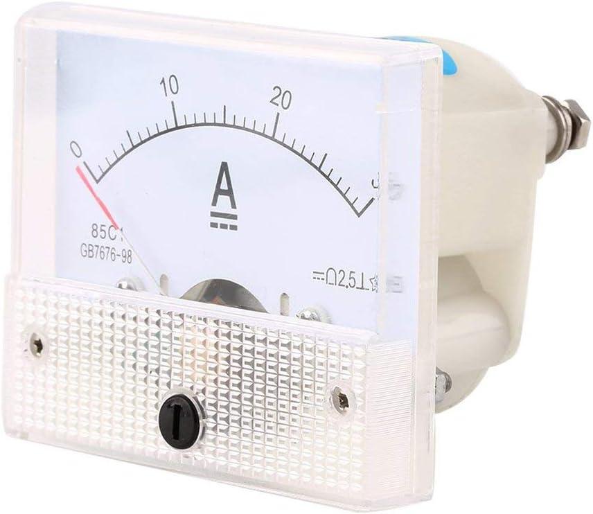 DC 30A Amp/èrem/ètre Analogique Portable 0-30A Compteur de Courant Durable Amp/èrem/ètre Analogique Panneau Compteur Professionnel; blanc Candybobo