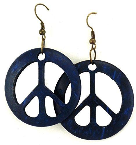 Peace Sign Earrings - Peace Wooden Earrings - Wood Earrings - Peace Symbol Earrings (Peace Symbol Earrings)