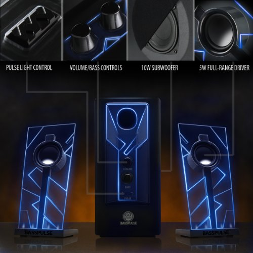 Gogroove Basspulse Gaming Computer Speaker System With