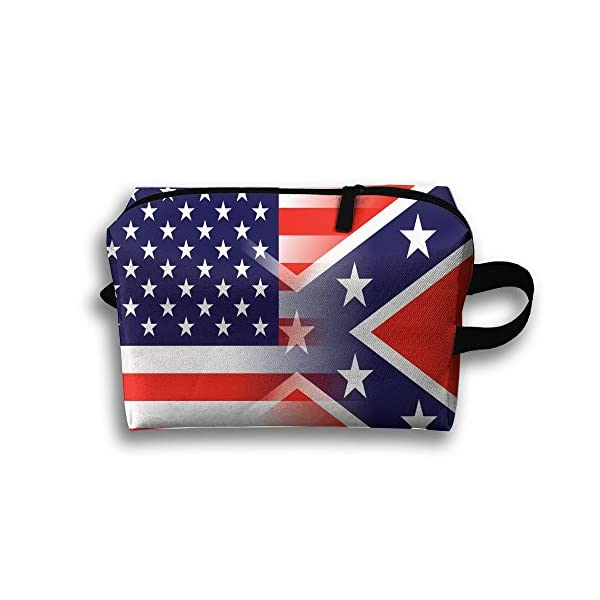 LINGMEI Portable Makeup Pouch US Flag Travel Cosmetic Bags For Womens Young Gifts