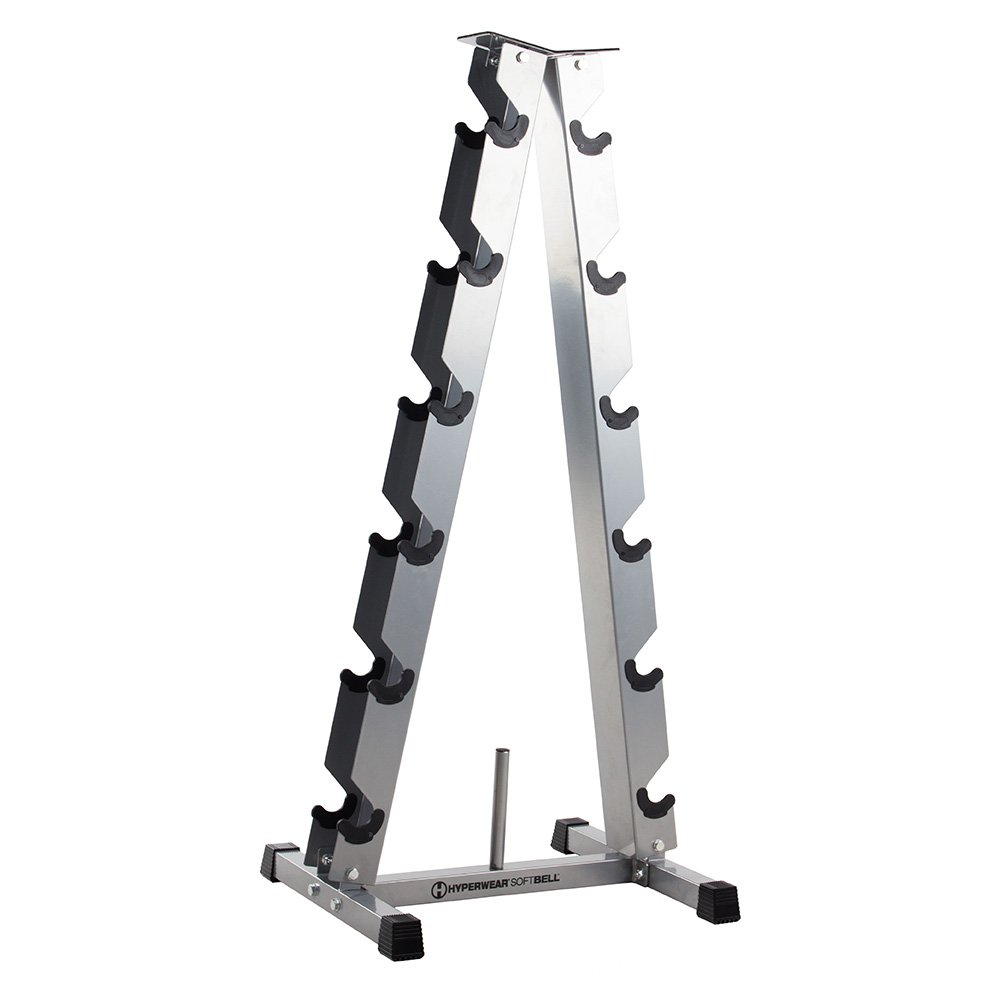 Hyperwear SoftBell Dumbbell Storage Rack for Home Gym or Health Club