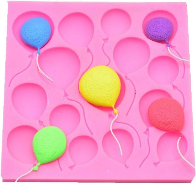 Wanshop® - Globos de silicona con forma de pasta, pastas dulces, mazapán, tartas, moldes grandes, redondos, girasoles, crisantemo, rosa, forma antiadherente, moldes para fiesta de cumpleaños: Amazon.es: Hogar