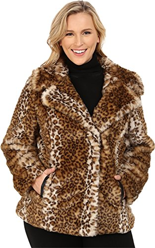 Via Spiga Women's Plus Size Novelty Faux Fur
