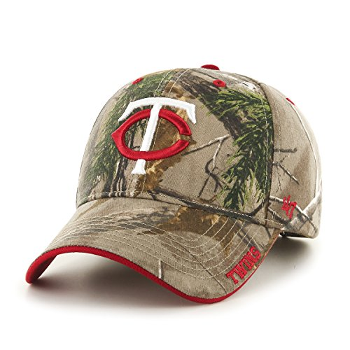 '47 MLB Minnesota Twins Frost MVP Adjustable Hat, One Size, Realtree Camouflage