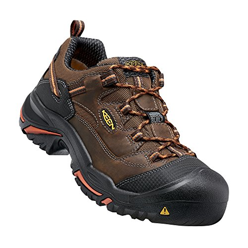 Picture of Keen Utility Men's Braddock Low Soft-Toe Work Boot, Cascade/Orange Ochre, 11 D US