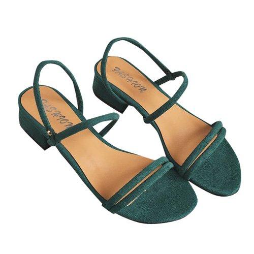 Posteriore Quadrato Donne Tacco Colori Donna Fascetta Alti Verde Per JUWOJIA Tacchi Sandali Calzature 3 d10wxXq4nq