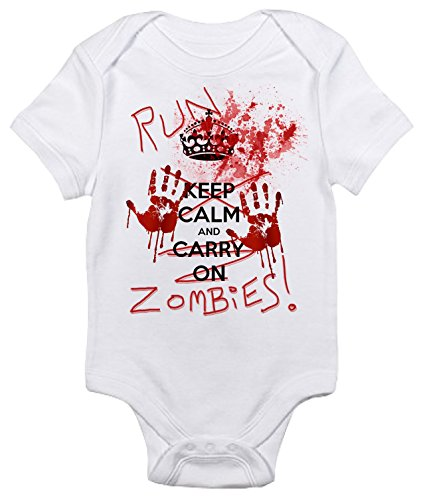 Run Zombies Baby Bodysuit Cute Baby Clothes for Infant Boys and Girls (3-6 Months, -