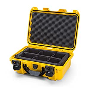 nanuk 915 waterproof hard case with padded dividers yellow camera accessory. Black Bedroom Furniture Sets. Home Design Ideas