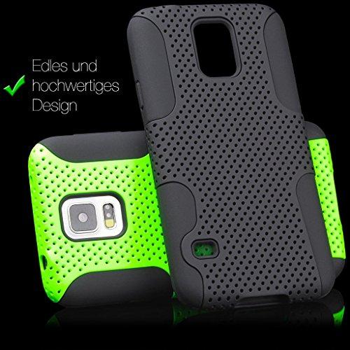 Apple iPhone 6 / 6S + PLUS (5,5 pouces) | iCues 2 Partie Air Case verte | [Protecteur d'écran compris] extérieur épais cas dur antichocs hommes Lifeproof militaires garçons protection de la peau Houss