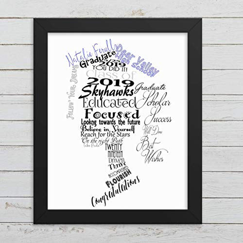 Personalized Graduation Gift for Girls, Graduation Print, College or High School Graduation Present