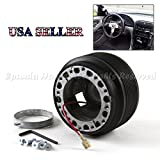 "90-05 Mazda Miata MX5 USA 2.6"" 6-Hole Aftermarket Steering Wheel Hub Boss Adapter Kit"