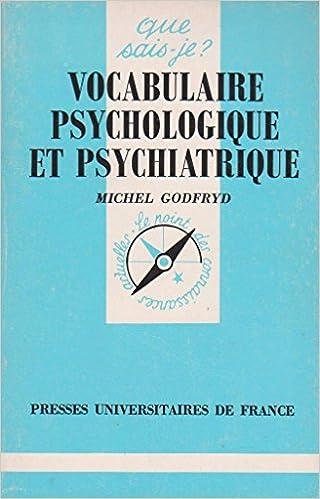Livre Vocabulaire psychologique et psychiatrique pdf, epub ebook