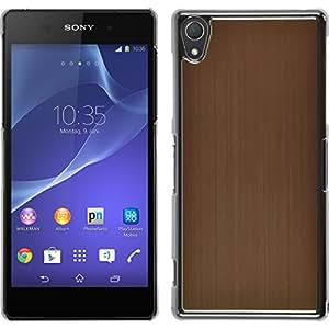 Funda Rígida para Sony Xperia Z2 - metálico oro - Cover PhoneNatic Cubierta + protector de pantalla